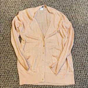 J Crew size Medium peach linen cardigan
